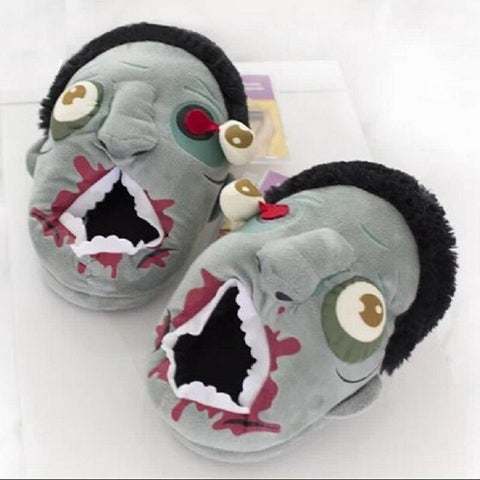 Zombie Plush House Slippers - It's Okay To Be Weird