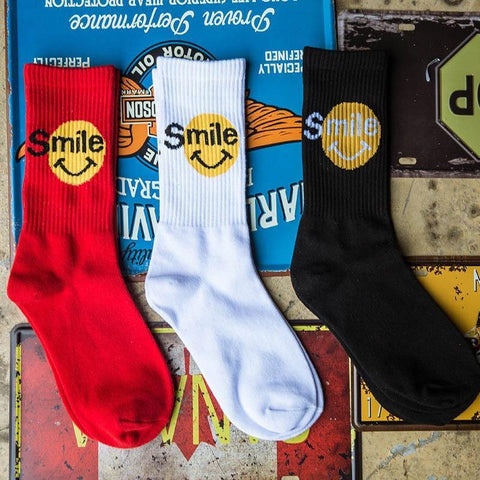Smile Emoji Socks - It's Okay To Be Weird