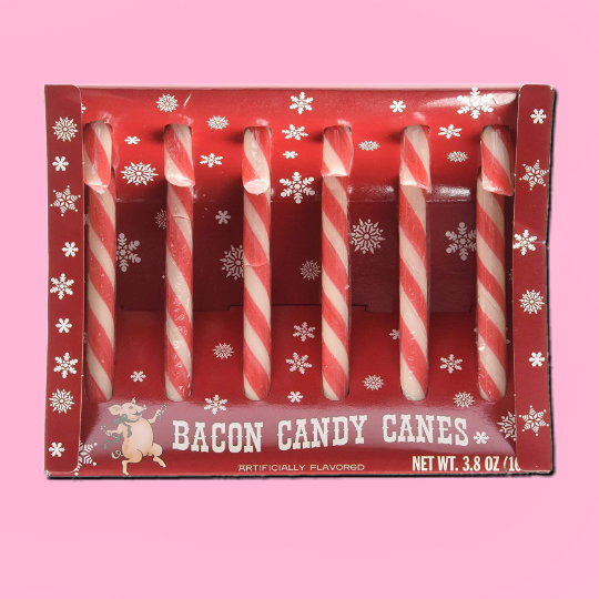 Bacon Flavored Candy Canes - It's Okay To Be Weird