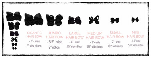 CUTIE BOWTUTIE HAIR BOW SIZE CHART