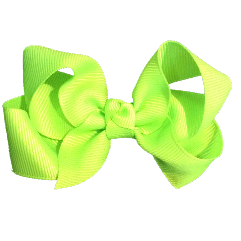 Medium Bow Knot - Neon Green