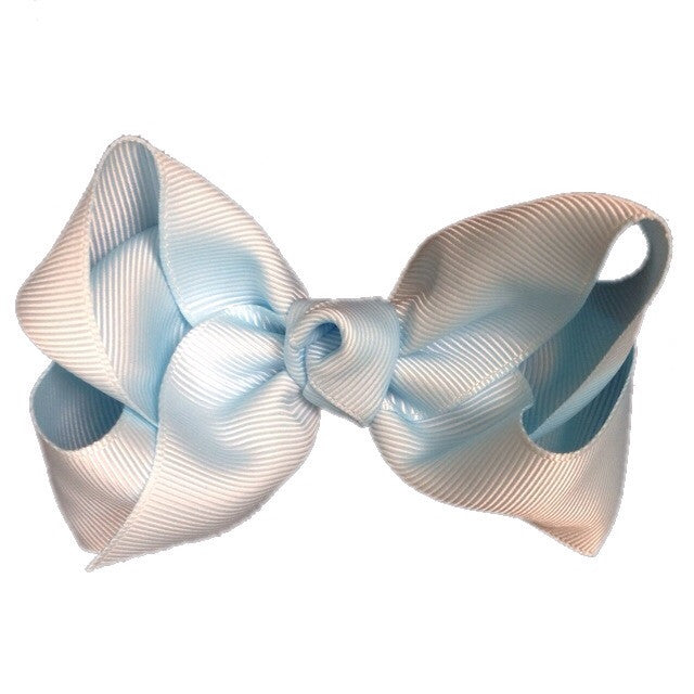 Large Hair Bow - Light Blue