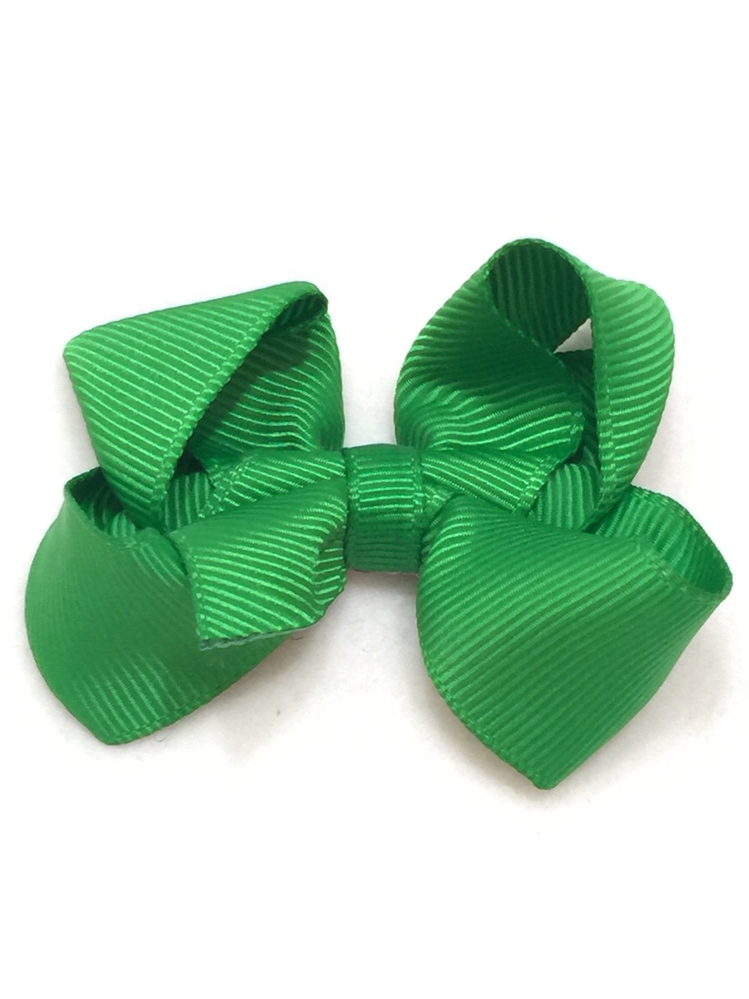 Small Hair Bow - Kelly Green - Cutie Bowtutie