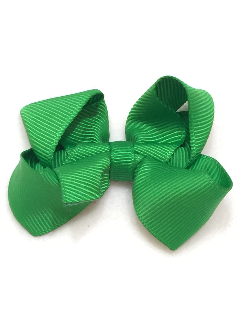 Small Hair Bow - Kelly Green