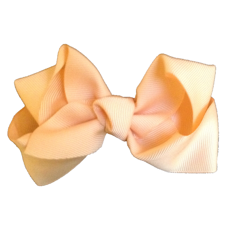 Large Hair Bow - Soft Yellow