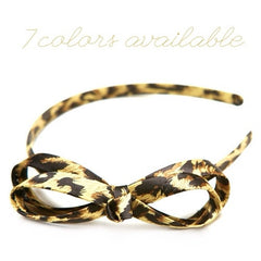 Headband - Cheetah Bow - Cutie Bowtutie
