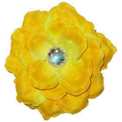 Small Rose Clip- Yellow