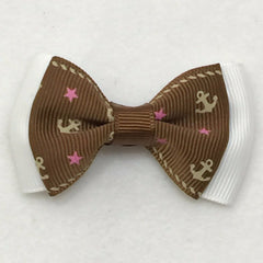 Small Hair Bow - Brown Ankor - Cutie Bowtutie