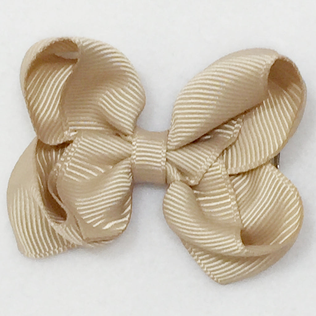 Small Hair Bow - Tan