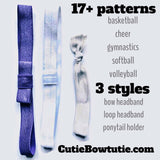 Elastic Ponytails and Headbands - Cutie Bowtutie