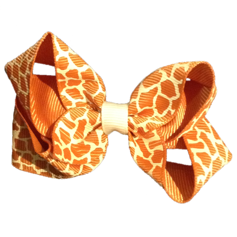 Medium Giraffe Bow - Tan