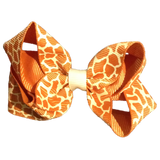 Medium Giraffe Bow - Tan - Cutie Bowtutie