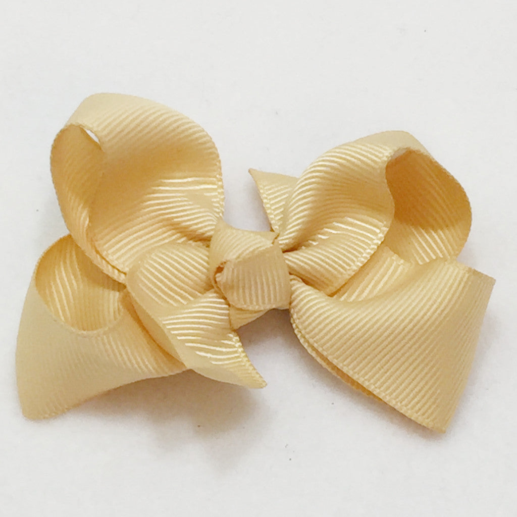 Small Hair Bow - Buttermilk - Cutie Bowtutie