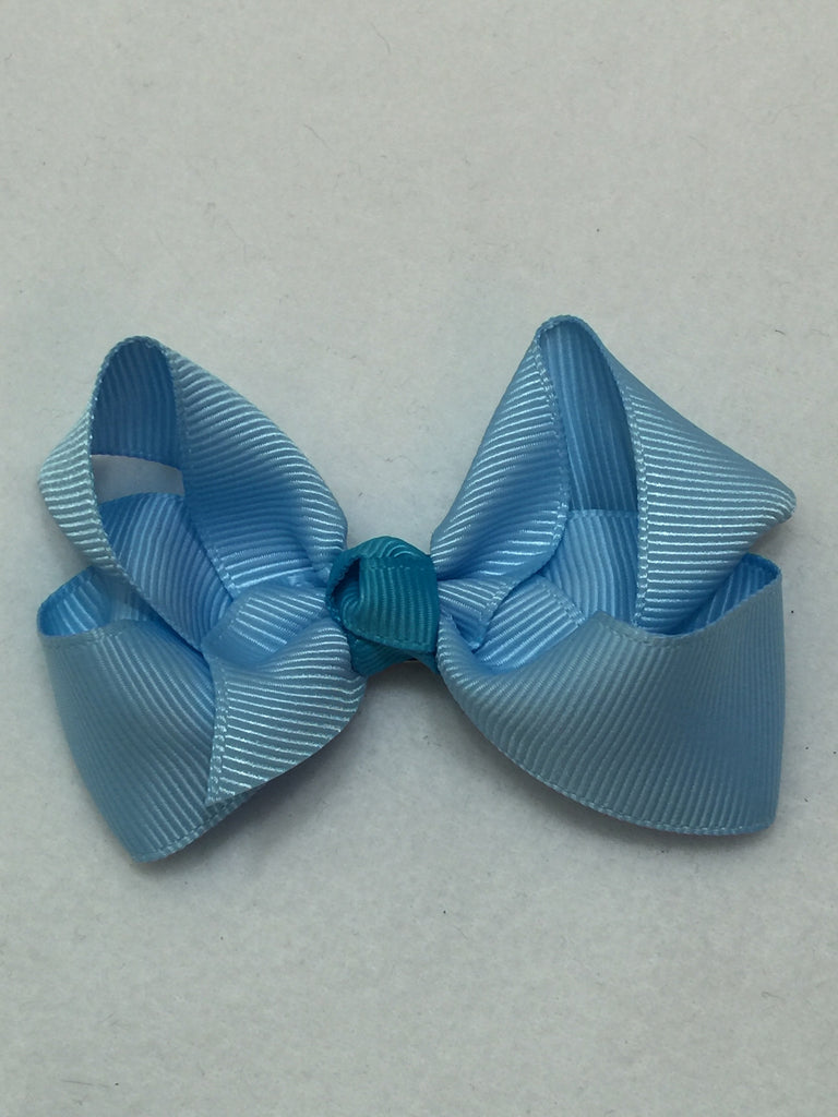 Medium Hair Bow - Baby Blue