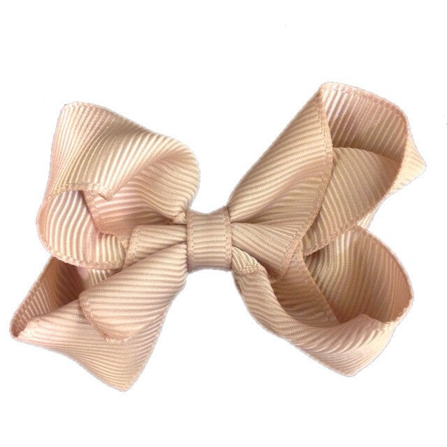 Small Hair Bow - Beige