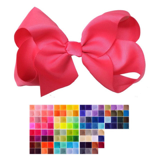 Custom Hair Bow - Jumbo teeth Clip