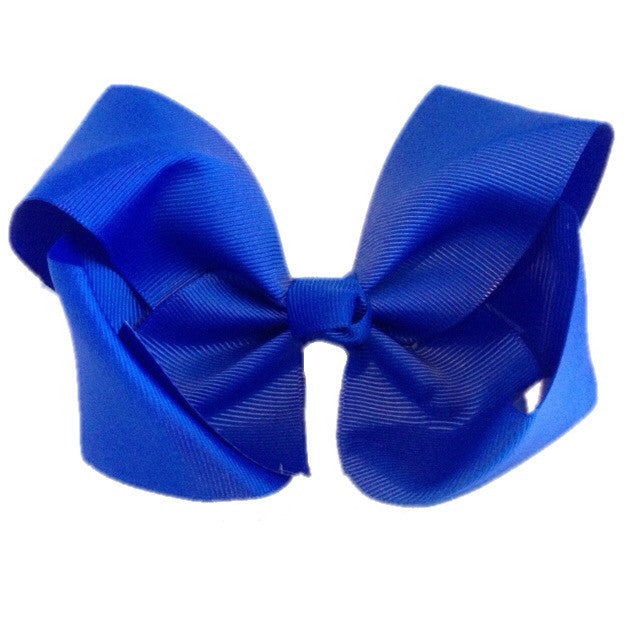 Jumbo Hair Bow - Electric Blue