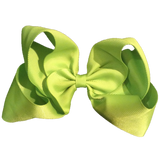 Large Flat Hair Bow - Apple Green - Cutie Bowtutie