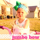 Jumbo Hair Bow - Kelly Green