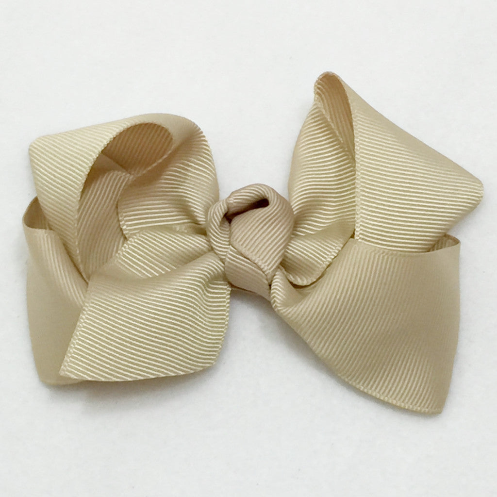 Large Hair Bow - Tan
