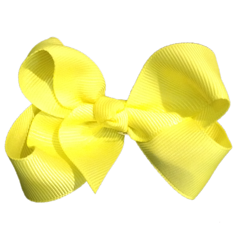 Medium Bow Knot - Neon Yellow