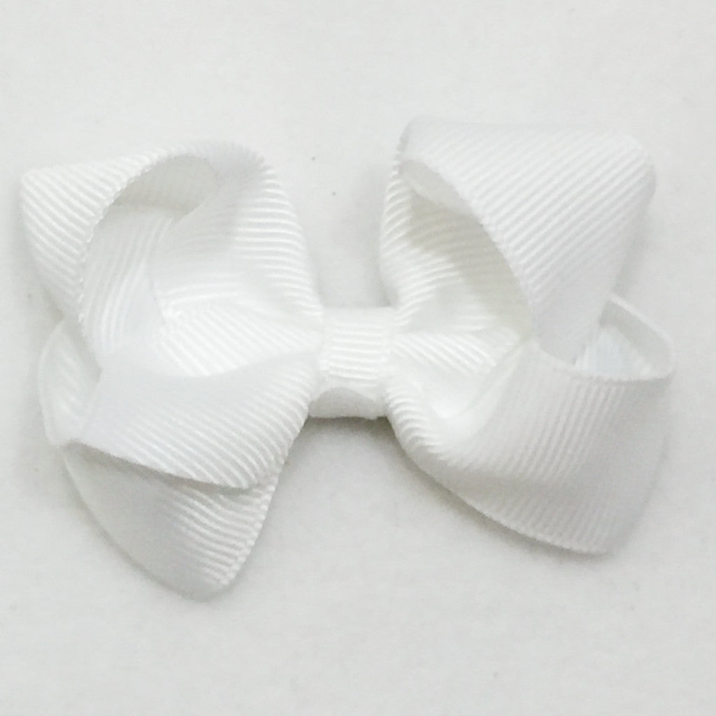 Small Hair Bow - White