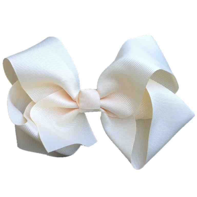 Jumbo Hair Bow - Cream Knot - Cutie Bowtutie