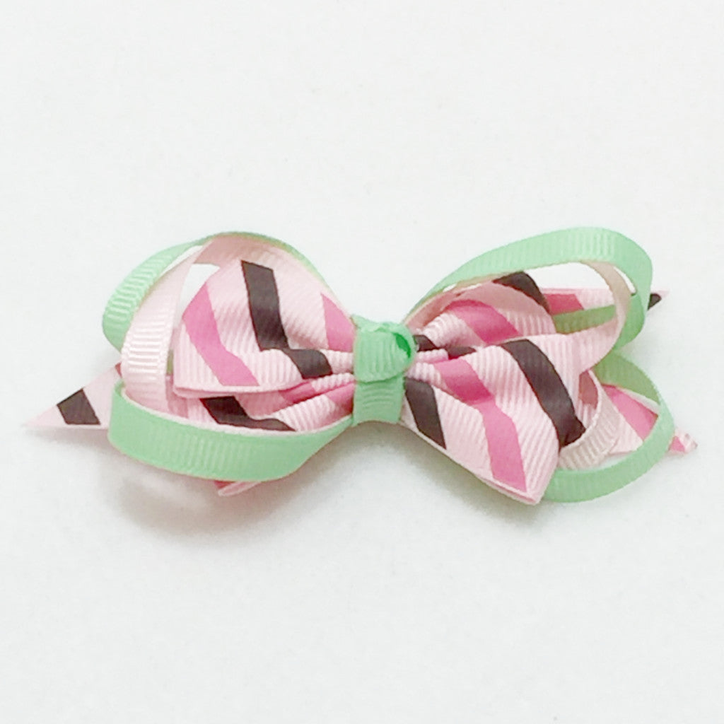 Small Hair Bow - Pink