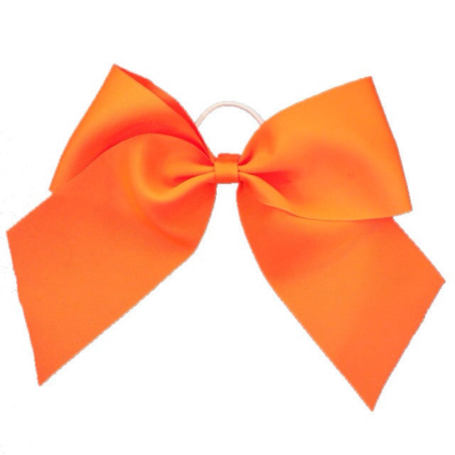 Cheer Bow - Neon Orange - Cutie Bowtutie