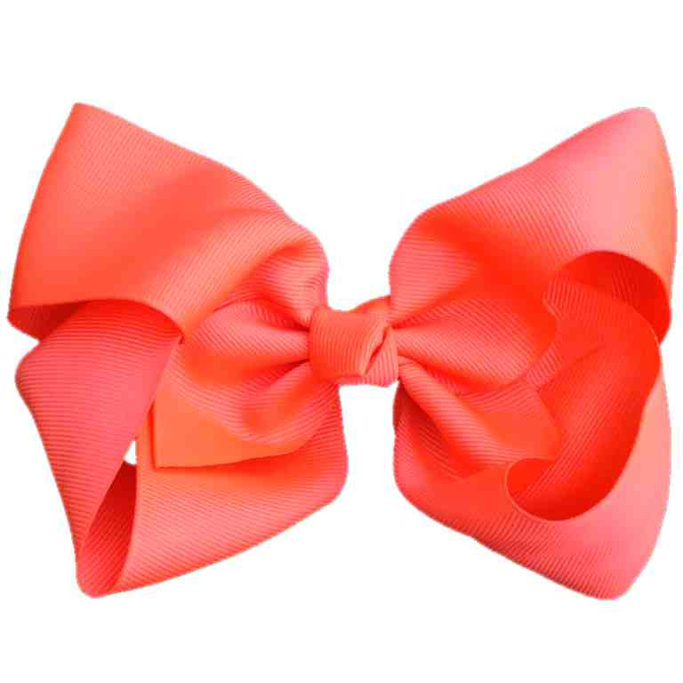 Jumbo Hair Bow - Neon Orange Knot - Cutie Bowtutie