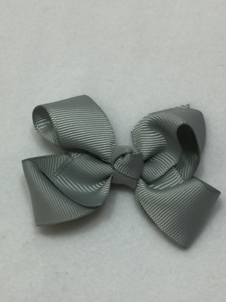 Small Hair Bow - Silver