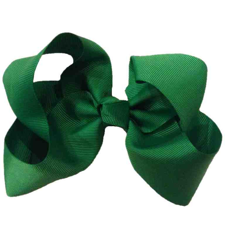 Jumbo Hair Bow - Hunter Green