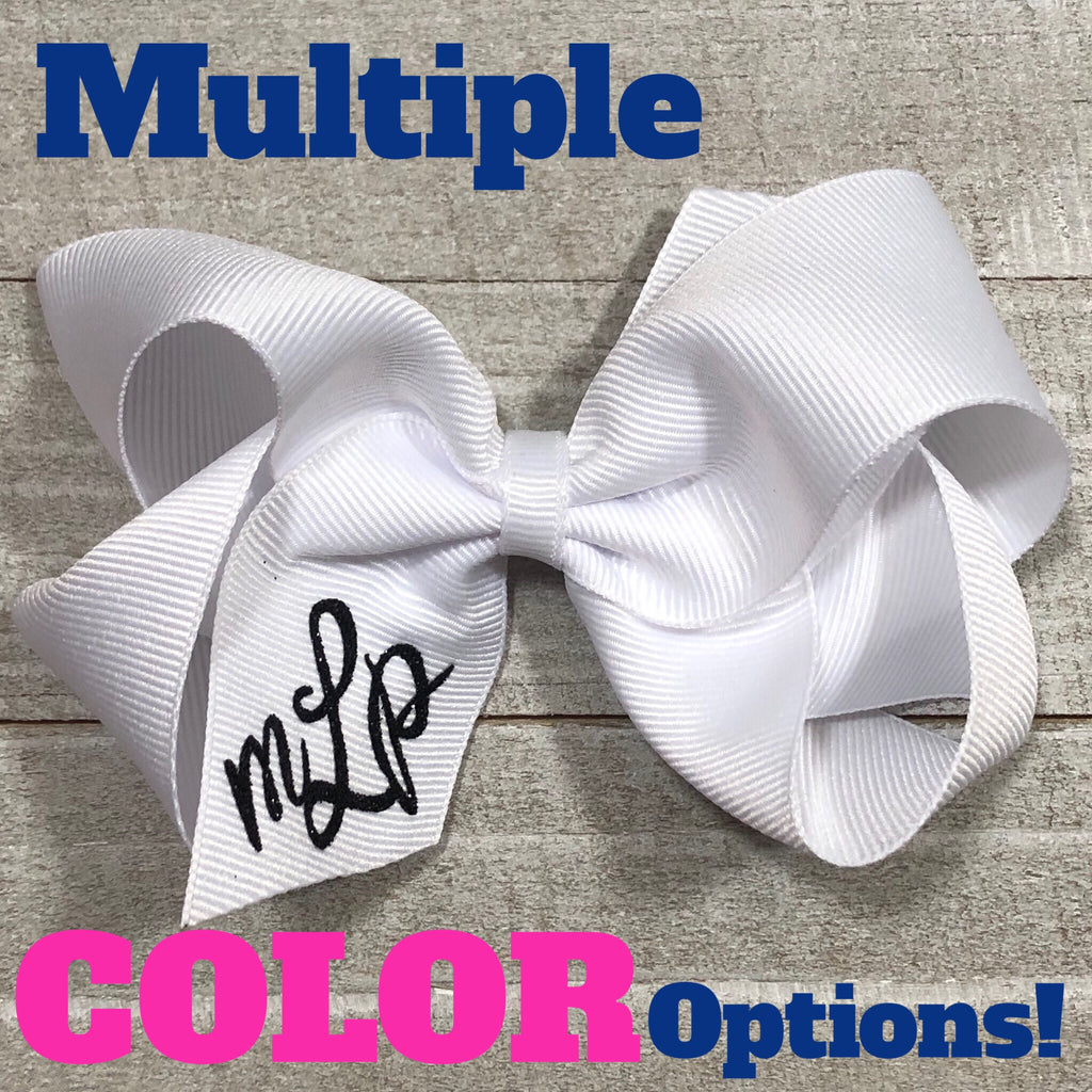 Monogram Hair Bows - Large