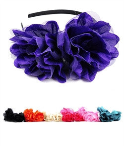 Headband - Double Flower - Cutie Bowtutie