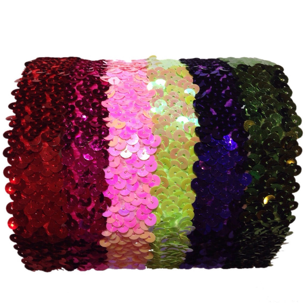 "1"" Sequin Stretch Headbands"