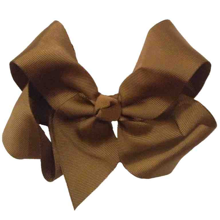 Jumbo Hair Bow - Brown