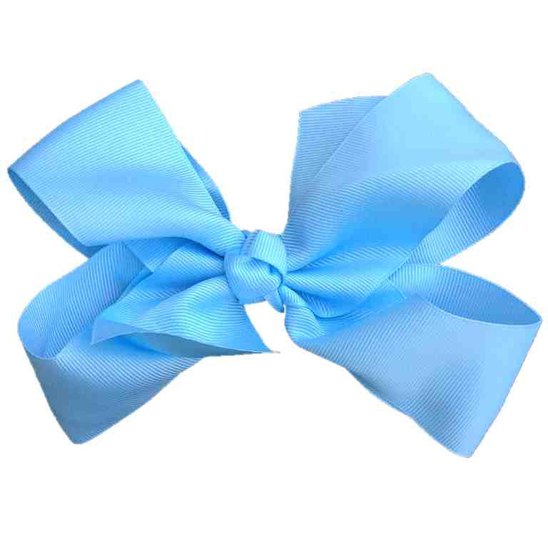 Jumbo Hair Bow - Light Blue