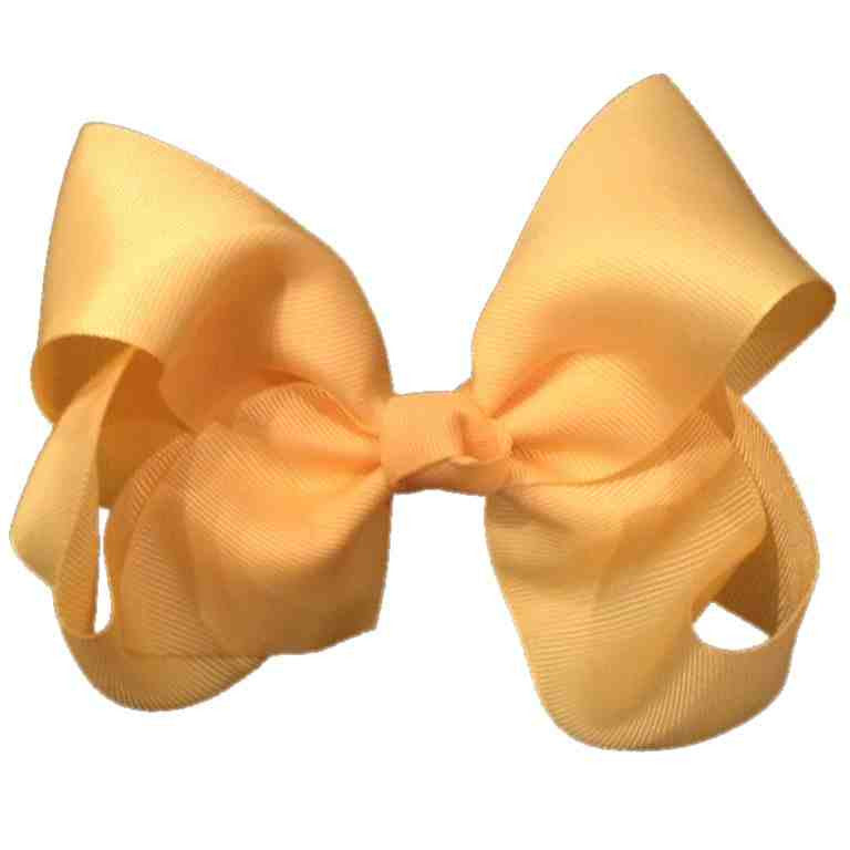 Jumbo Hair Bow - Butter Cream