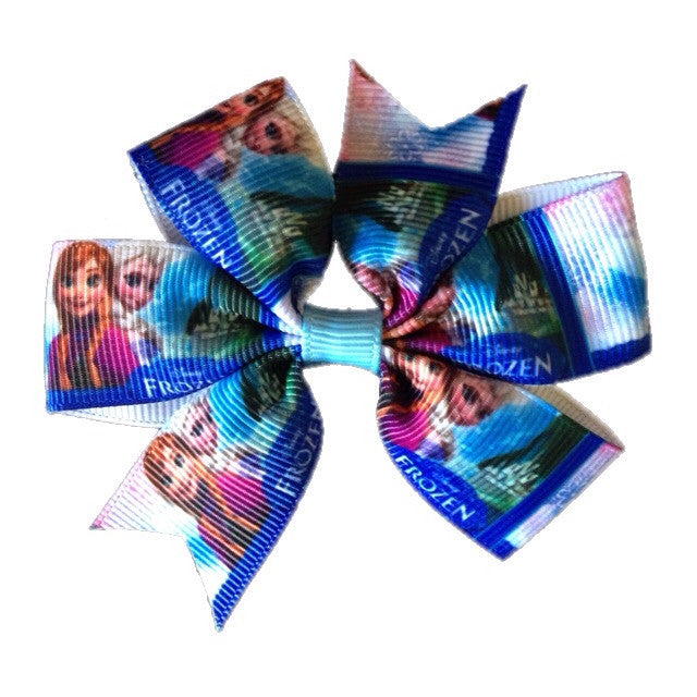 Frozen Hair Bow Medium- Dark Elsa & Anna