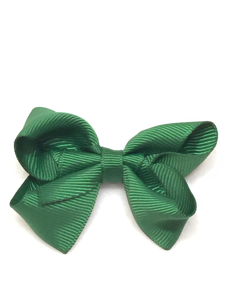 Small Hair Bow - Hunter Green