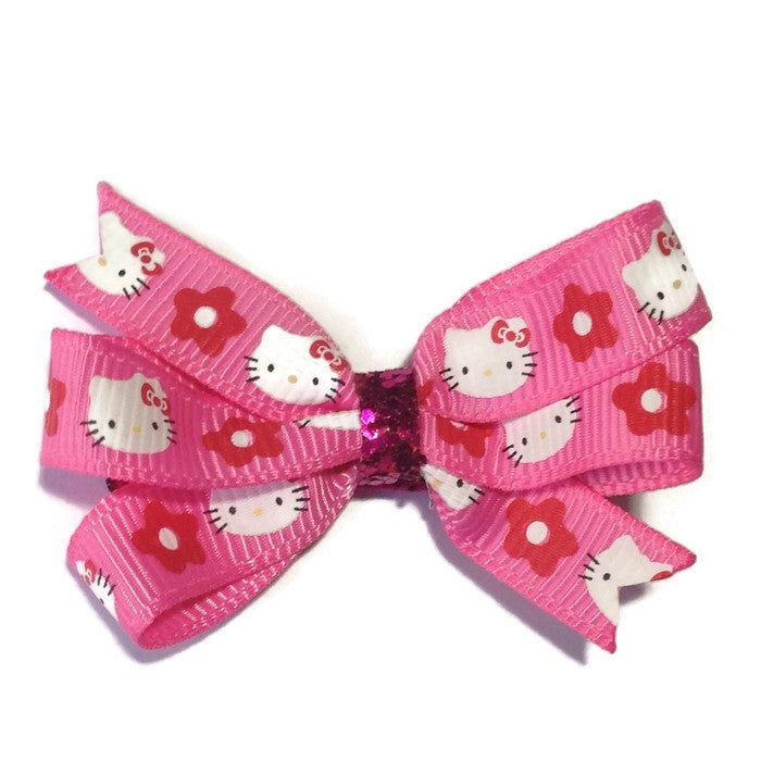 Mini Hello Kitty Hair Bow - Cutie Bowtutie