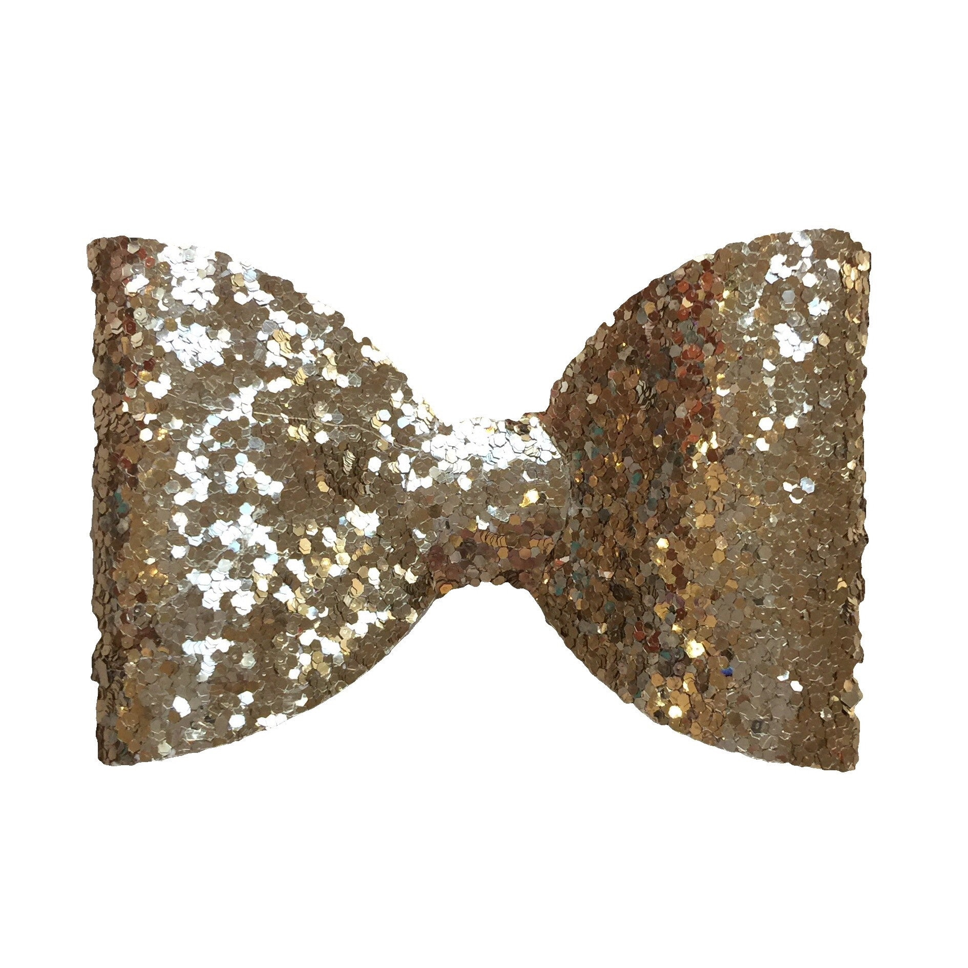 Gold Glitter Hair Clip - Medium - Cutie Bowtutie