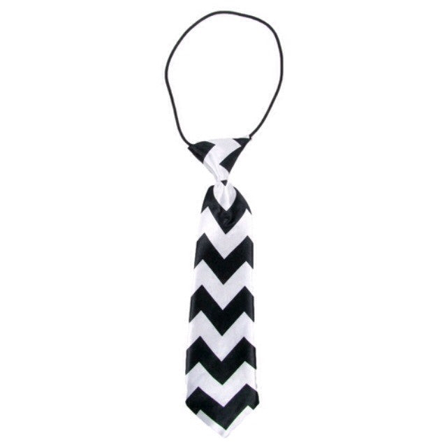 Boys Neck Tie - Chevron Black - Cutie Bowtutie