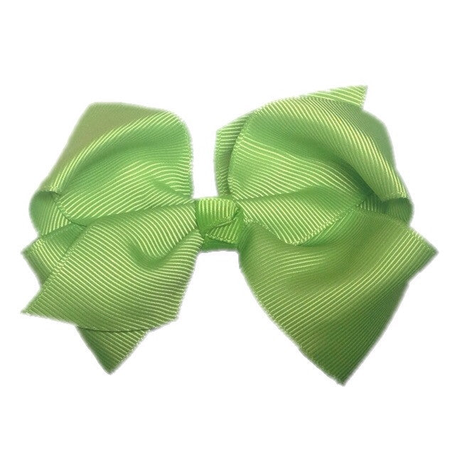 Large Knot Hair Bow - Apple Green - Cutie Bowtutie