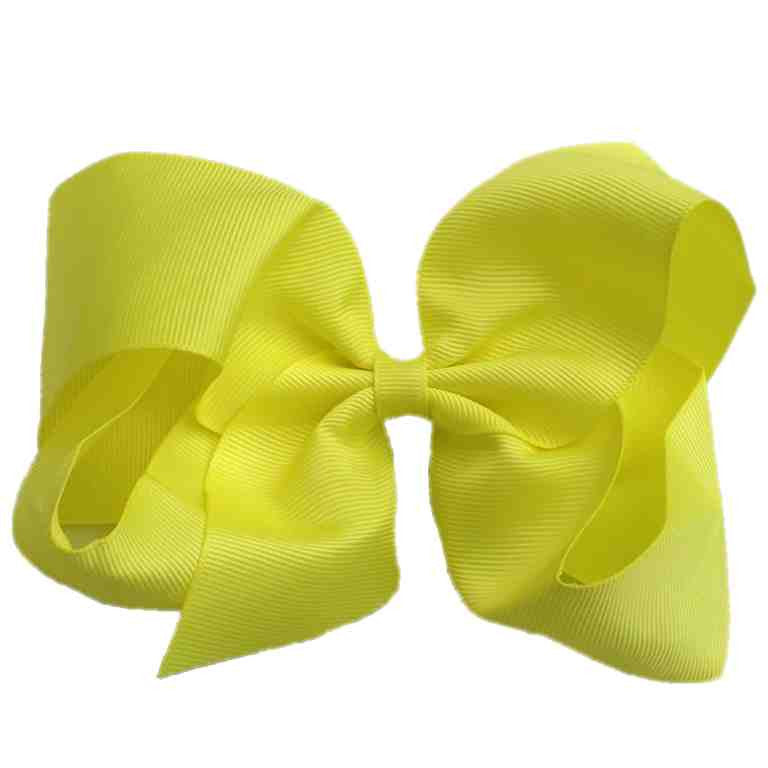 Jumbo Hair Bow - Neon Yellow - Cutie Bowtutie