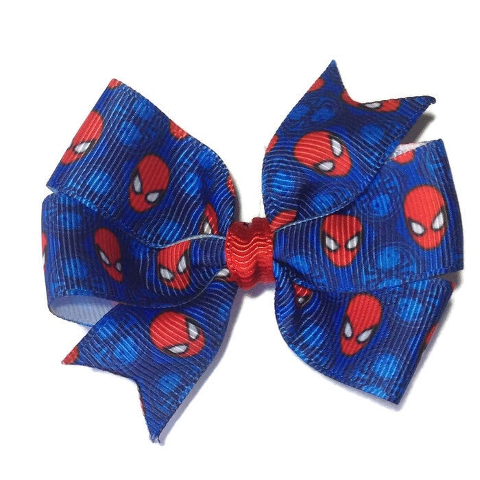 Medium Spiderman Hair Bow - Cutie Bowtutie