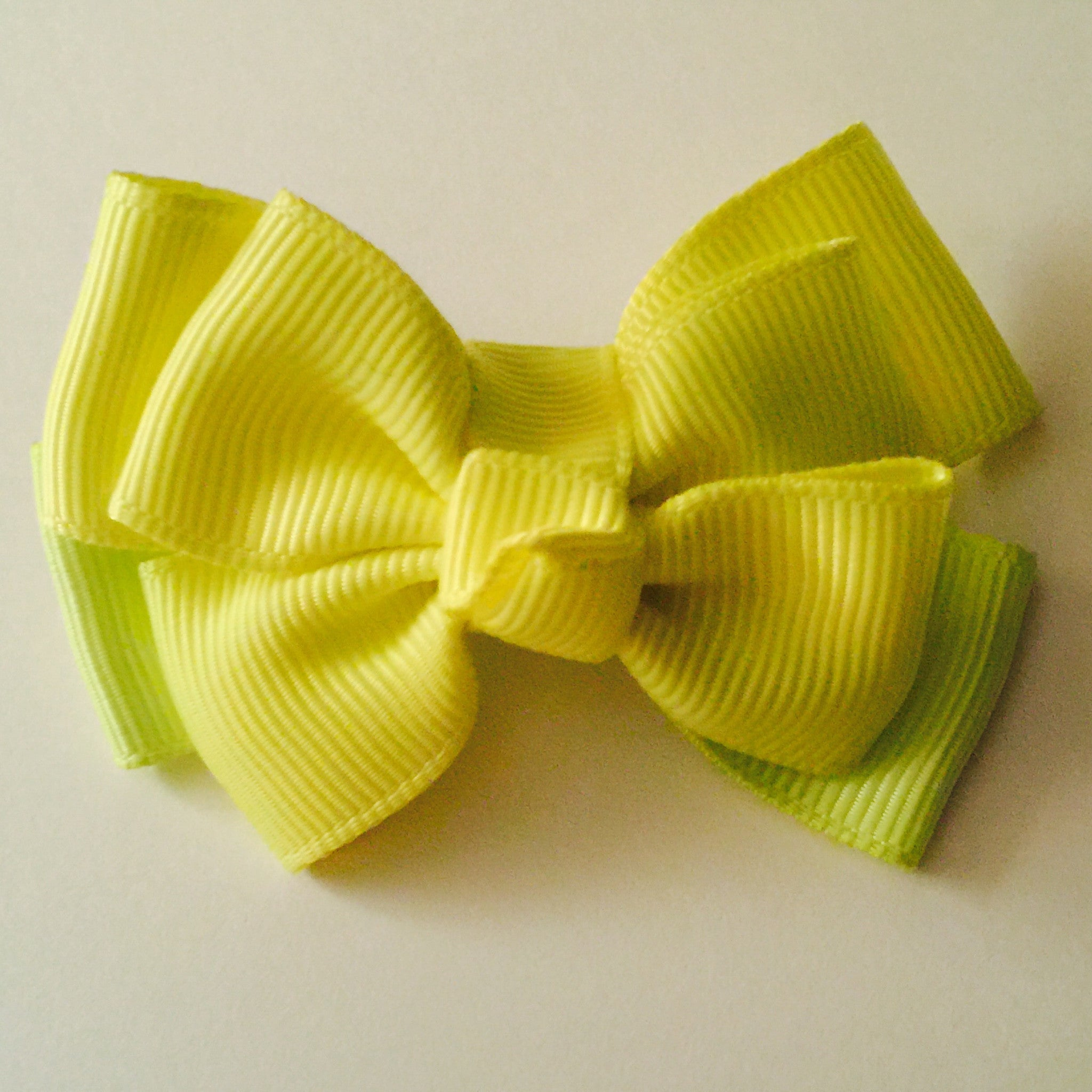 Small Hair Bow - Neon Yellow - Cutie Bowtutie