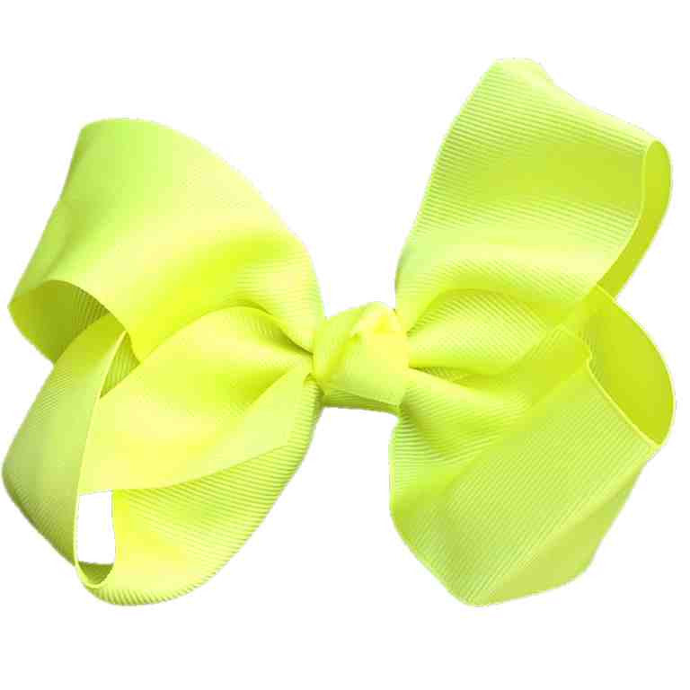 Jumbo Hair Bow - Neon Yellow Knot - Cutie Bowtutie