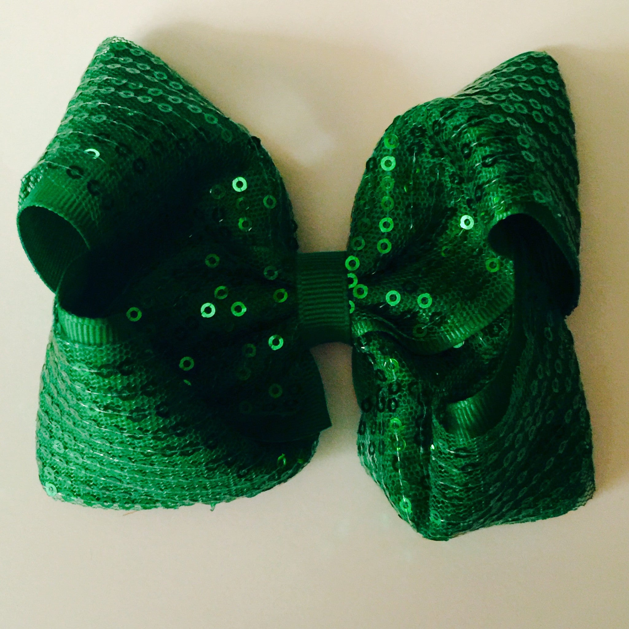 Jumbo Hair Bow - Kelly Green - Cutie Bowtutie