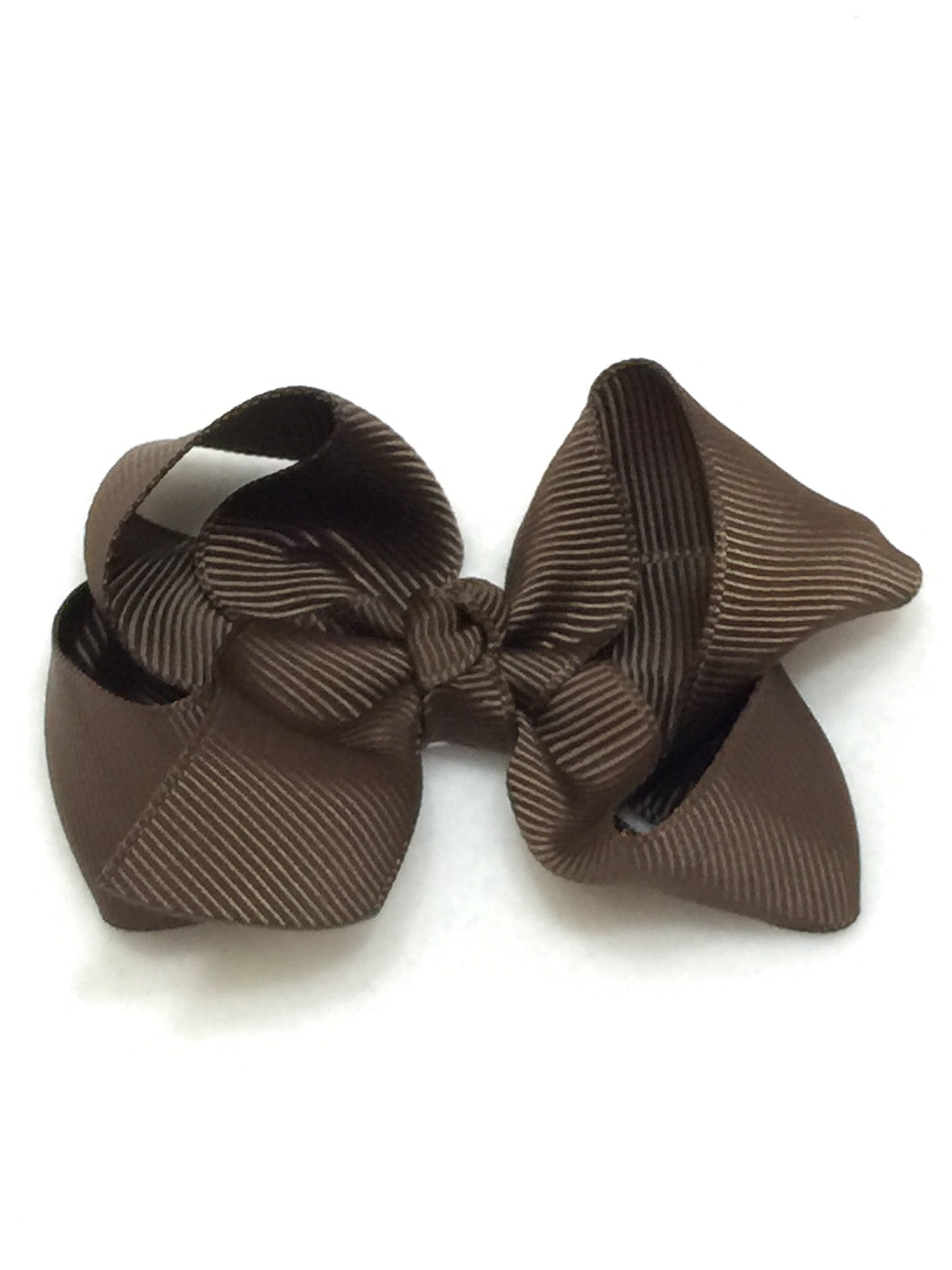 Medium Hair Bow - Brown - Cutie Bowtutie